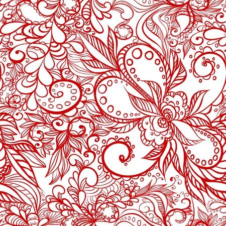 sketch pattern: patr�n de belleza perfecta con remolinos Vectores