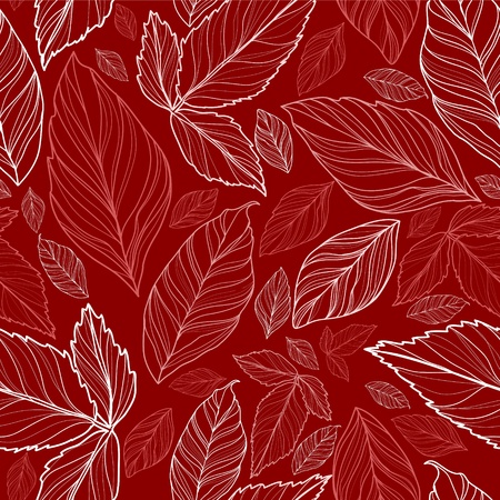 vector seamless pattern with leaves Vector