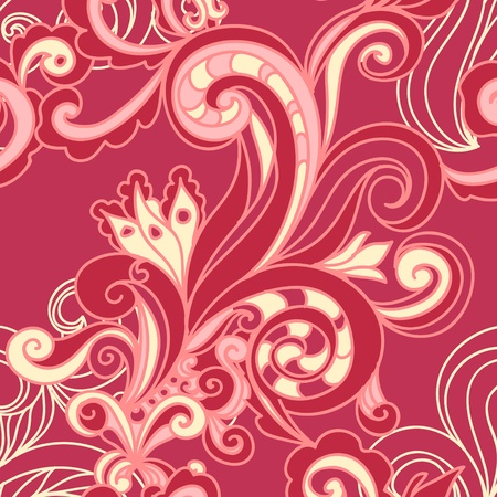 vector seamless pattern with swirls Stock Vector - 12201812
