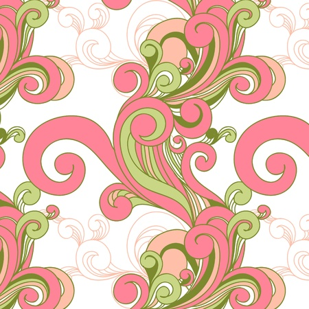 vector seamless pattern with swirls Vector
