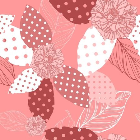 beautiful vector seamless pink pattern with roses Vector