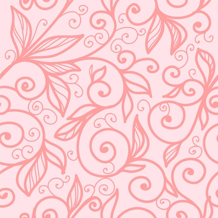 beautiful vector seamless pattern with swirls Vector