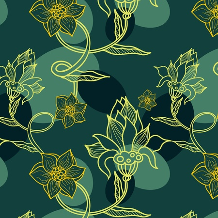 luxuriate: floral seamless background