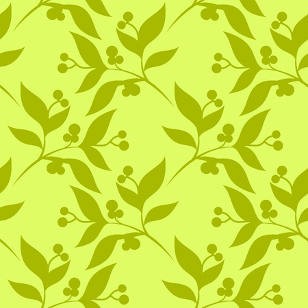 seamless pattern with leaves. Vector