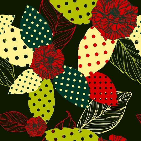 sketch pattern: vector patr�n hermosa perfecta con rosas