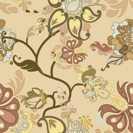 floral vector: Resumen patr�n floral vector sin fisuras