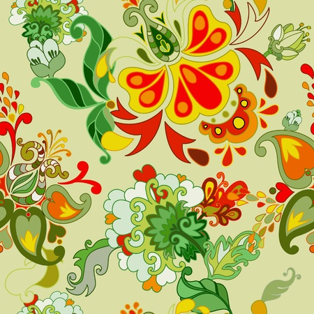 Abstract floral vector seamless pattern