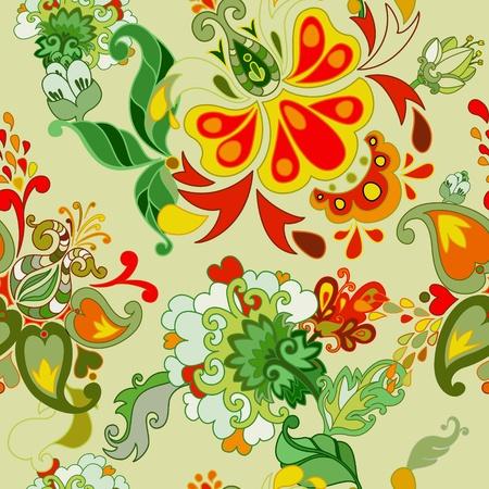sketch pattern: Resumen patr�n floral vector sin fisuras