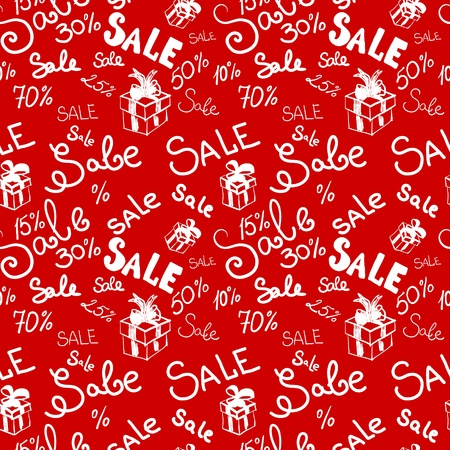 promotional: Big sale seamless vector pattern.