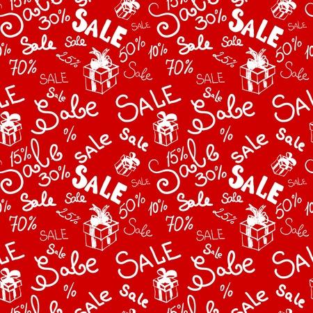 Big sale seamless vector pattern. Vector