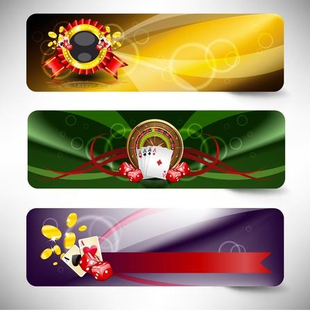 ruleta de casino: juego de casino de vectores Vectores