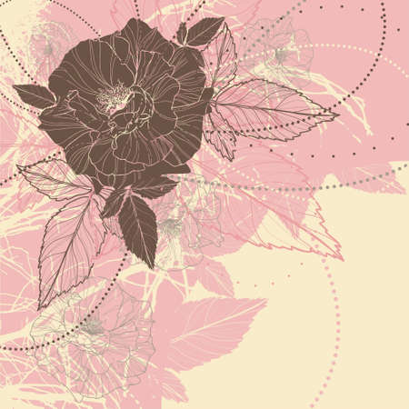 rose silhouette: floral background with roses