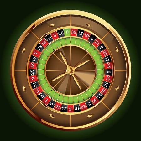 the roulette: Casino detallada rueda de la ruleta Vectores