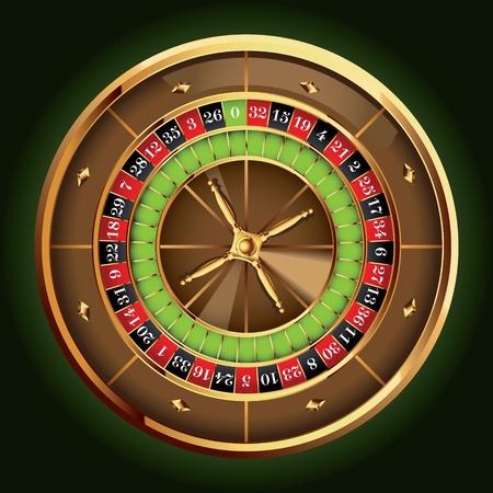 ruleta: Casino detallada rueda de la ruleta Vectores