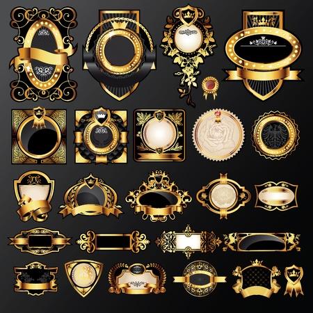 luxe: grand ensemble de marques de luxe Illustration