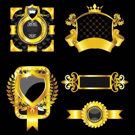 set of the golden vintage labels