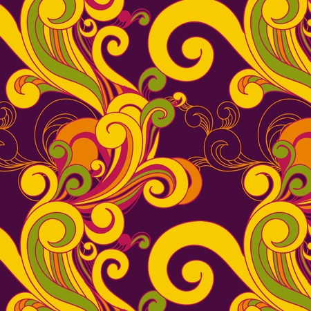 wallpaper modern abstract: floral seamless background