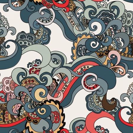 dibujos lineales: Resumen sin patrón floral.