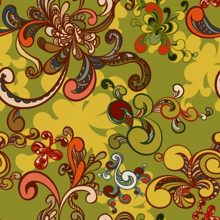 Abstract floral seamless pattern Stock Vector - 13625608