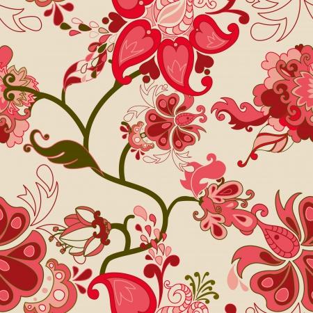 floral vector: Resumen patr�n de vectores sin fisuras florales.