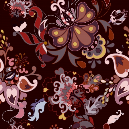 Abstract floral seamless pattern Vettoriali