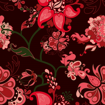 Abstract floral seamless pattern. Vector