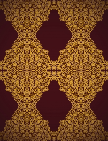 victorian textile: Seamless Damask wallpaper