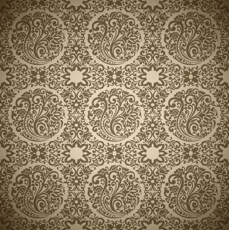 Seamless Damask wallpaper Stock Vector - 13625605