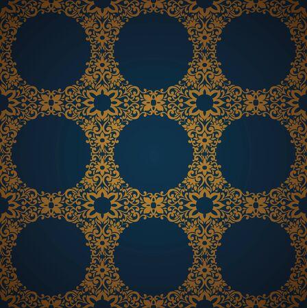 Seamless Damask wallpaper Stock Vector - 13625516