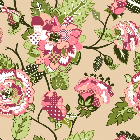 beautiful seamless background with roses  Illustration