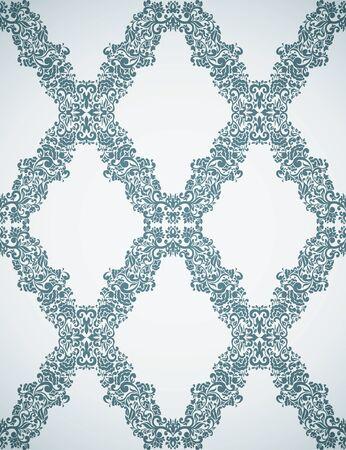 Seamless Damask wallpaper. Stock Vector - 13625616