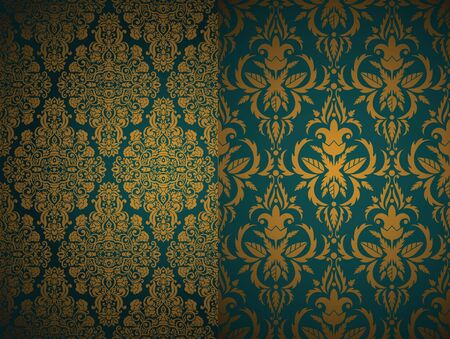 Set of seamless Damask wallpapers Stock Vector - 14316173