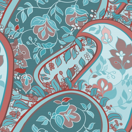 beautiful paisley seamless background Vector