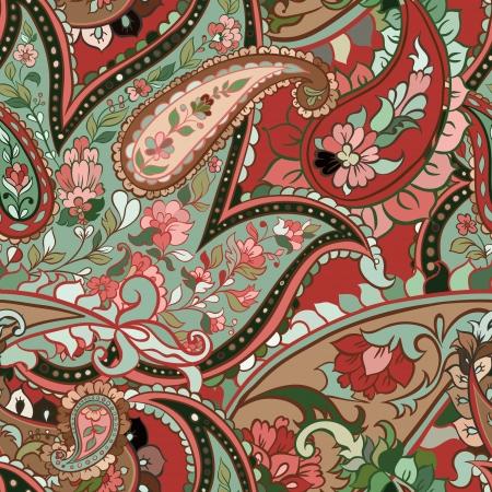paisley pattern: belle coloré fond paisley transparente