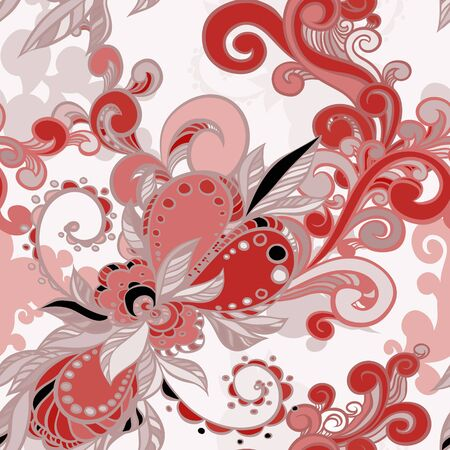 luxuriate: floral seamless background with swirls