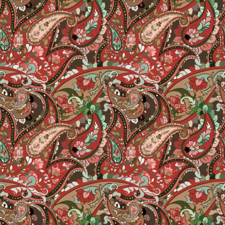 india pattern: beautiful colorful paisley seamless background