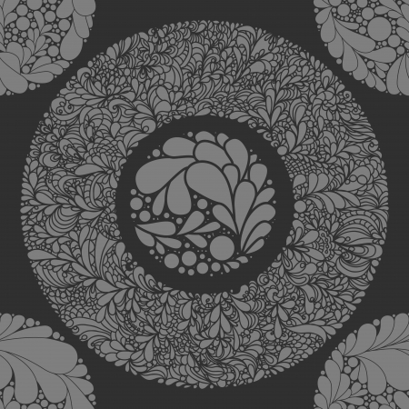 Fantasy abstract floral seamless pattern  Vector