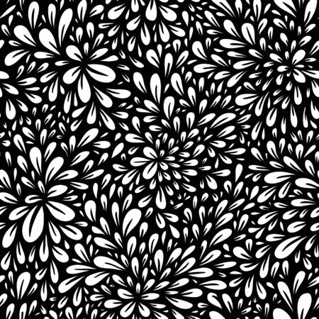 Fantasy abstract floral seamless pattern. Vector