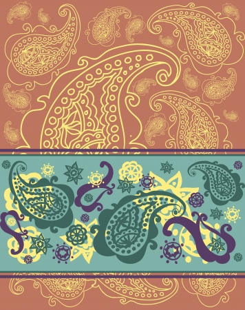 magnificence: Abstract colorful paisley pattern.