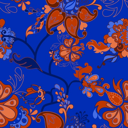 Set of vector retro floral seamless patterns. Vector