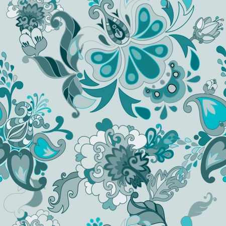 Set of vector retro floral seamless patterns Vector
