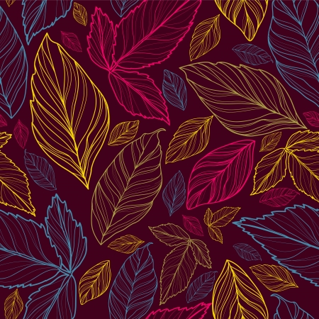 luxuriate:  floral seamless background with leaves Illustration
