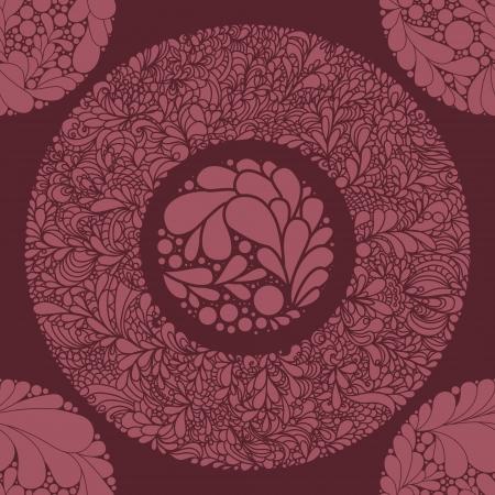 ファンタジー抽象的なシームレスな花柄。