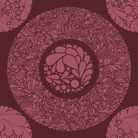 textile design: Fantasy abstract floral seamless pattern.
