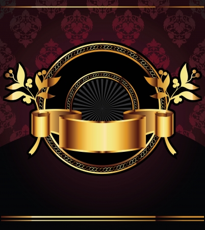 Vector decorative ornamental background with golden elements Vector