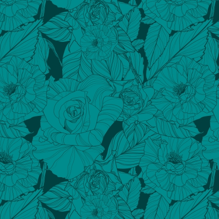 luxuriate: floral background with roses.