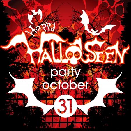 halloween party: Halloween kaart of achtergrond