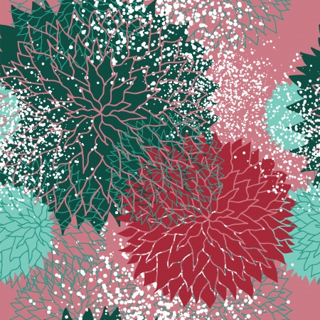 luxuriate: floral seamless background  Illustration