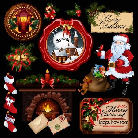 Collection de vecteur. Tout à propos de thème de Noël. Banque d'images - 16220969