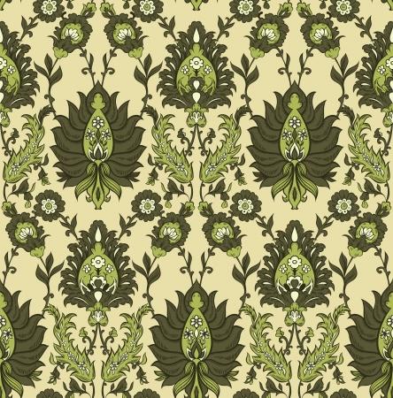 persia: Persian floral vector seamless pattern